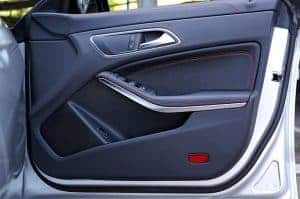 this photo shows a car door