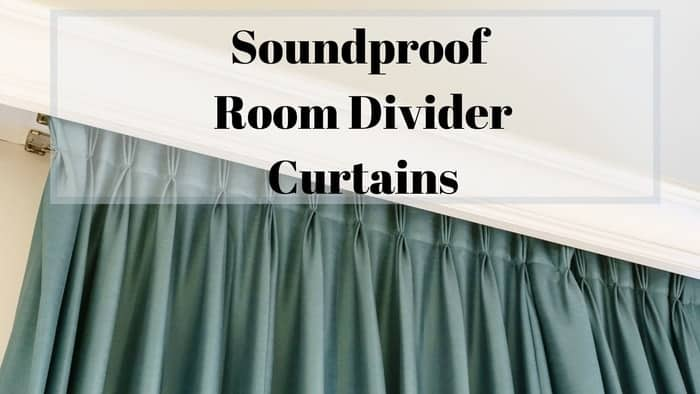 blue soundproof room divider curtains